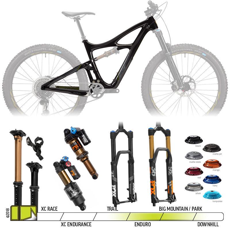 BikeCo Frame Kit Builder Ibis Mojo 3 Obsidian Black