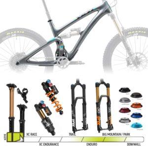 BikeCo Frame Builder Yeti SB6 Silver Complete
