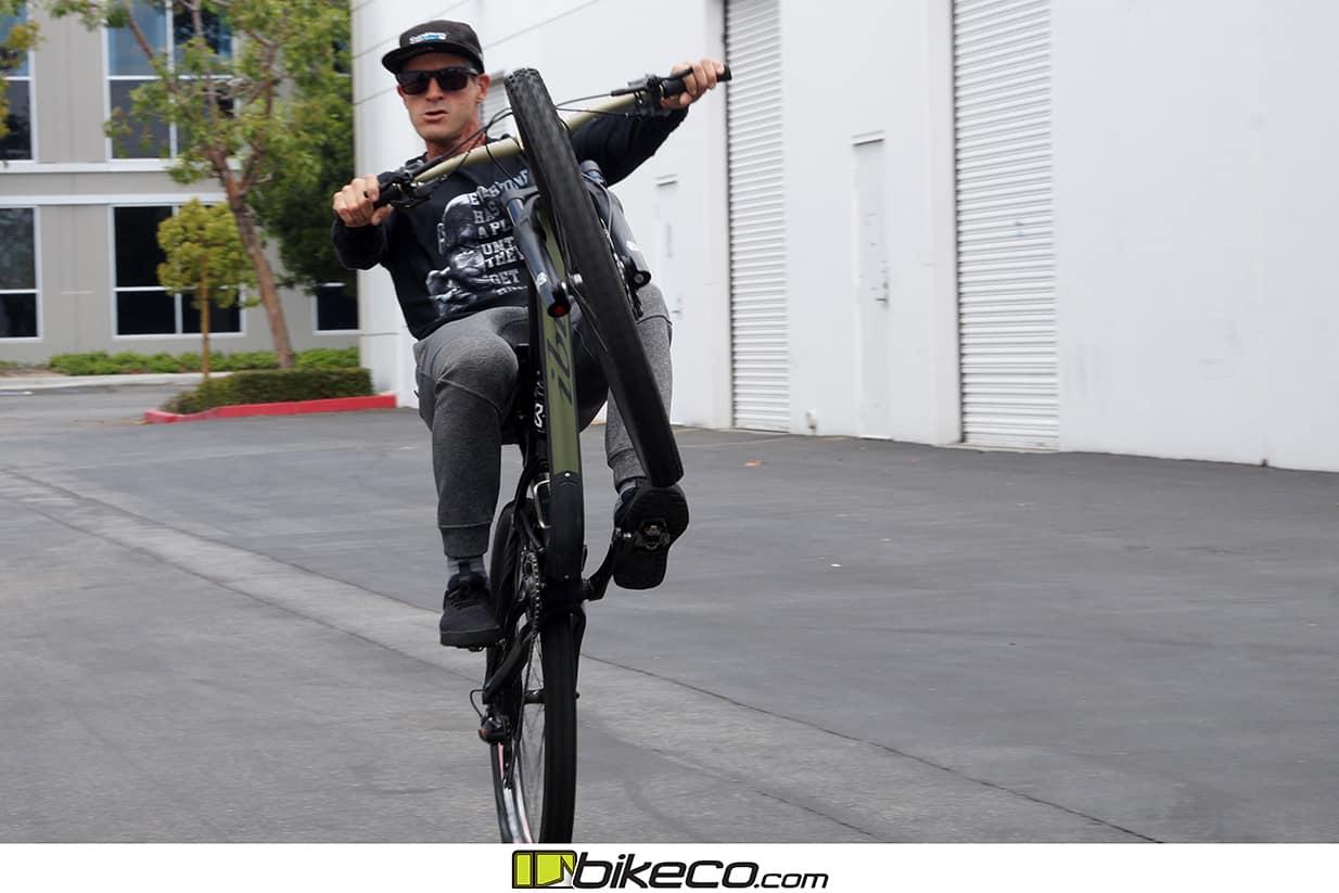 If it's a bike Brian can wheelie it. Ibis Ripmo. Serious fame.