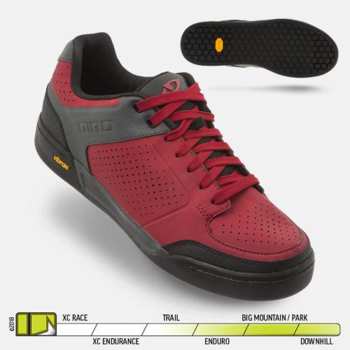 Giro Riddance Shoe Dark Red Dark Shadow