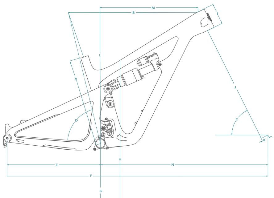 Yeti SB150 Frame Geometry