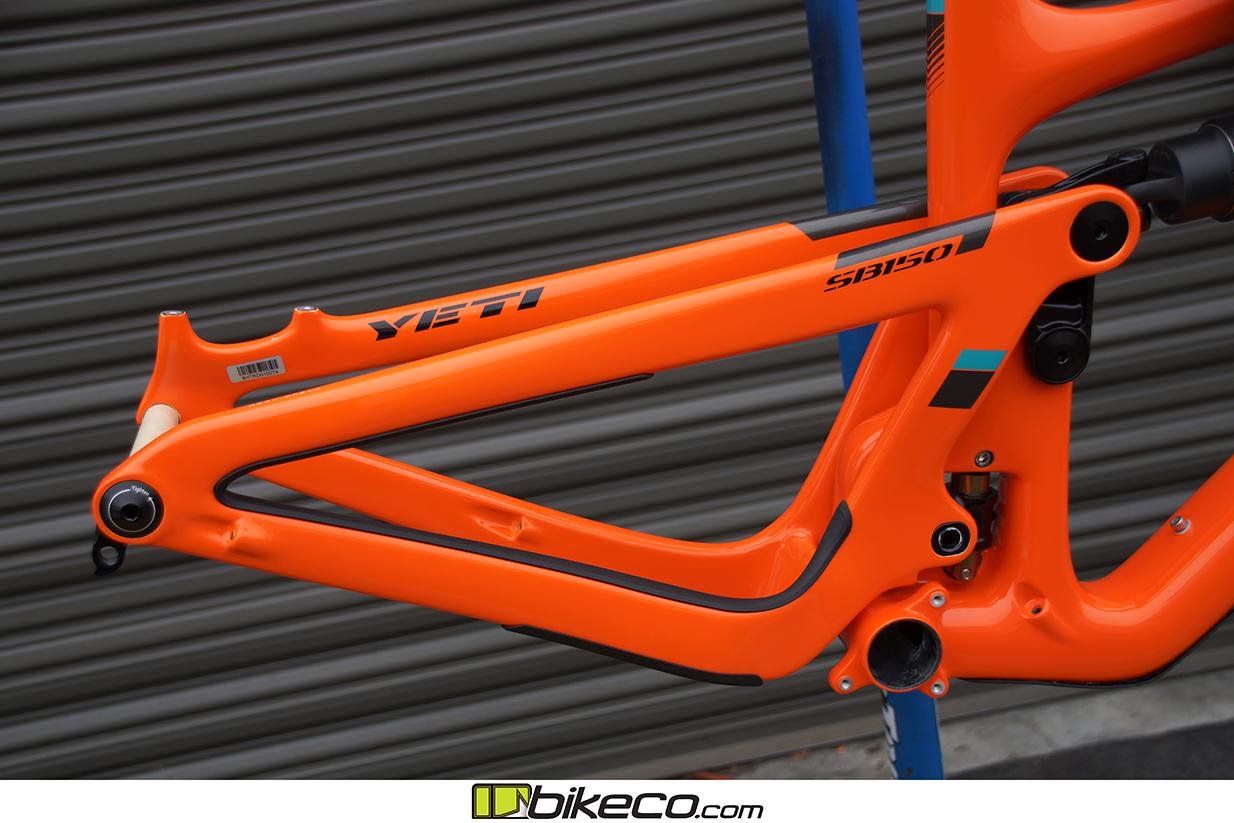 s Yeti SB150 Frame Pics Orange Frame Detail Picture 3