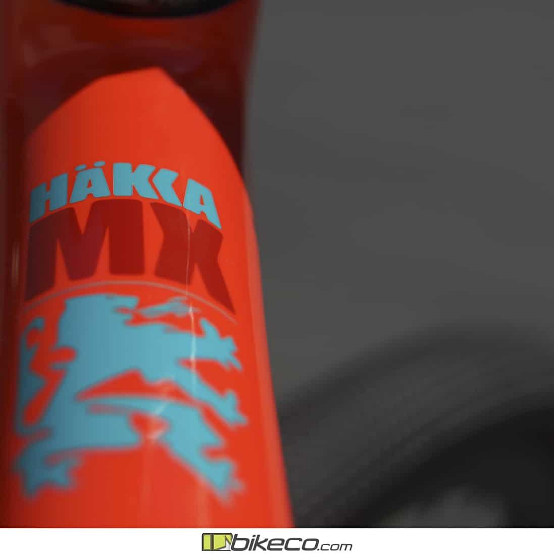 Ibis Hakka MX top tube graphic