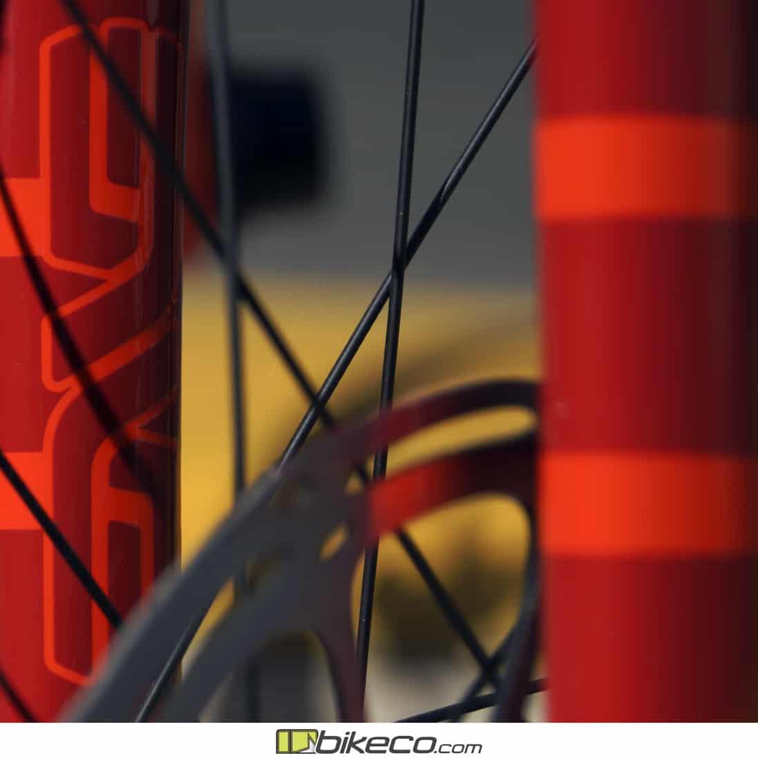 Enve logo on Ibis Hakka fork close up