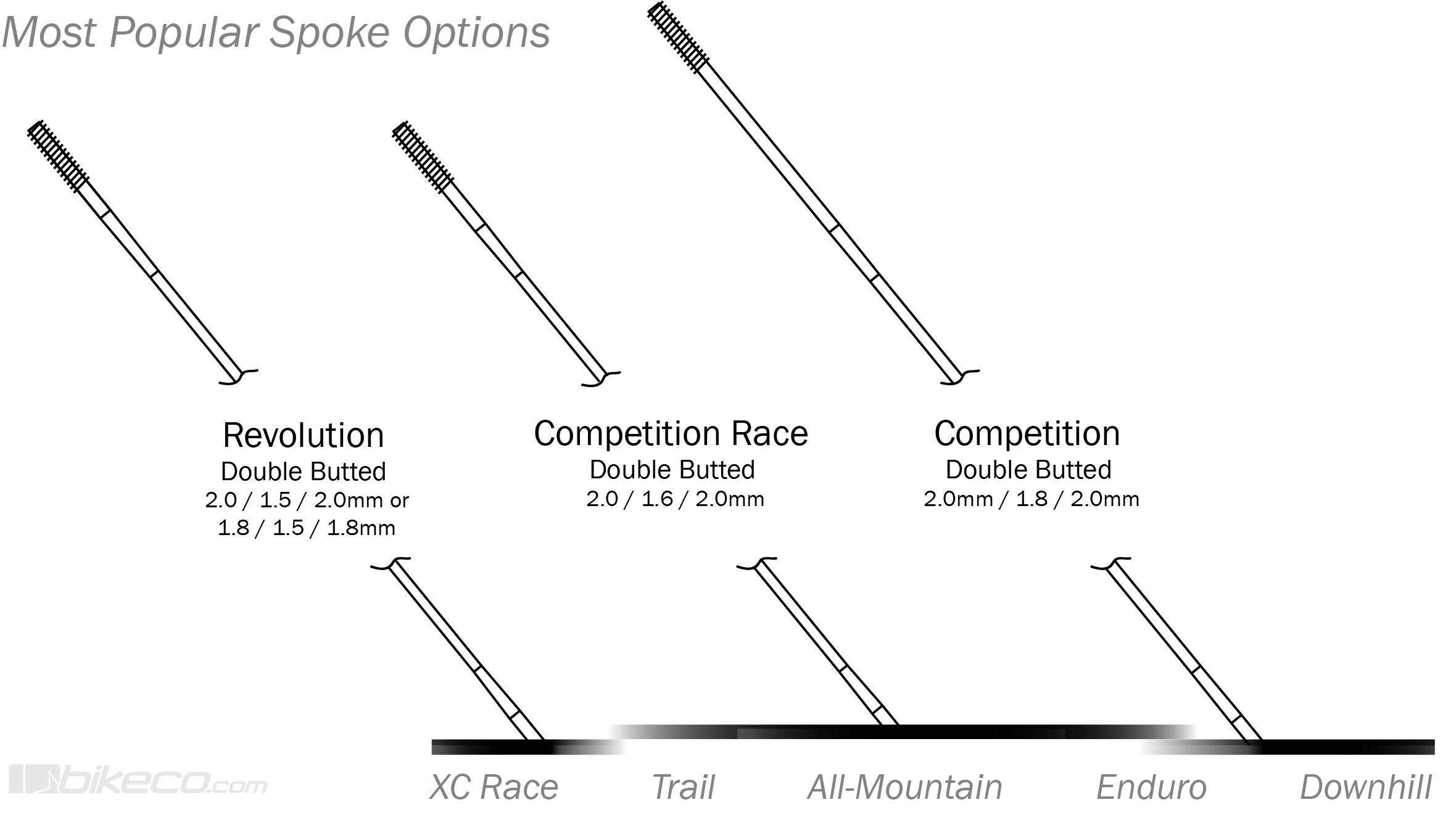 DT Swiss Spoke Comparison Revolution Competition Race Competition