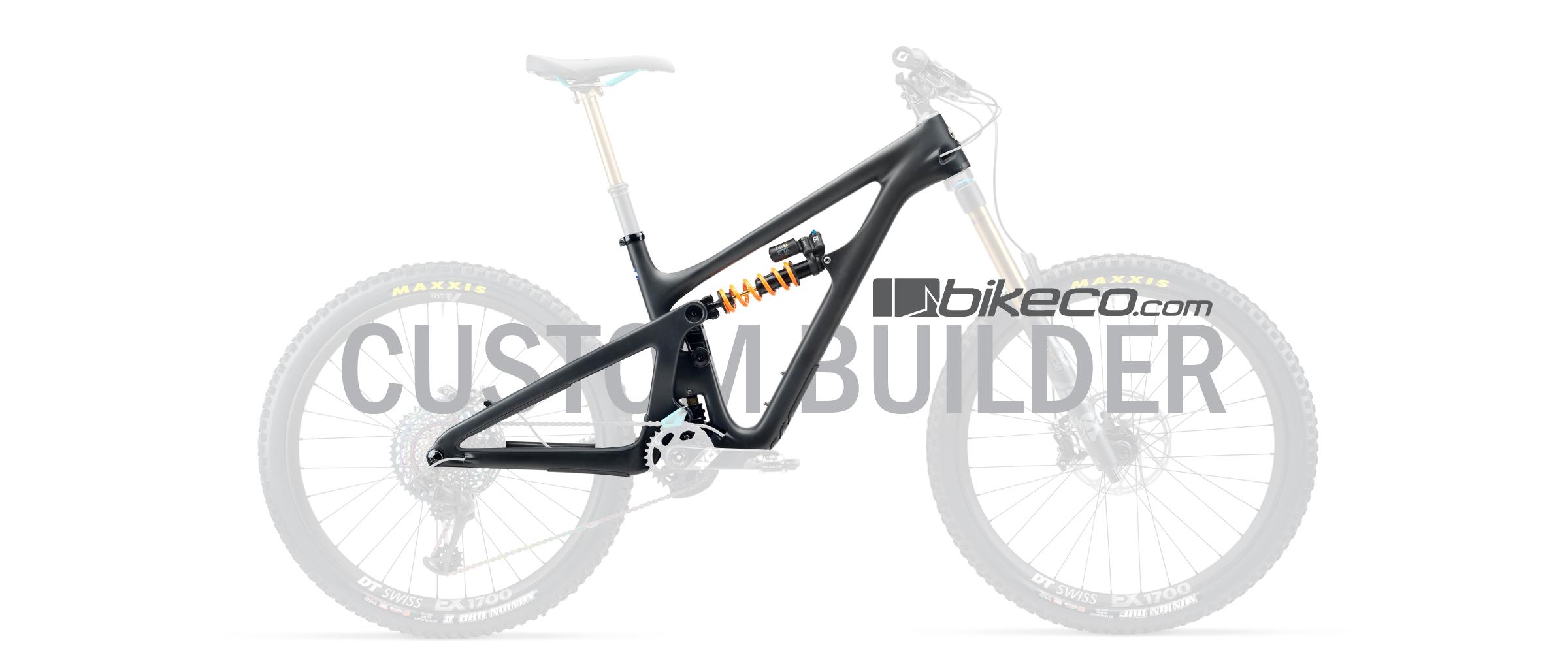 Yeti SB165 Custom Builder. Black frame with translucent components
