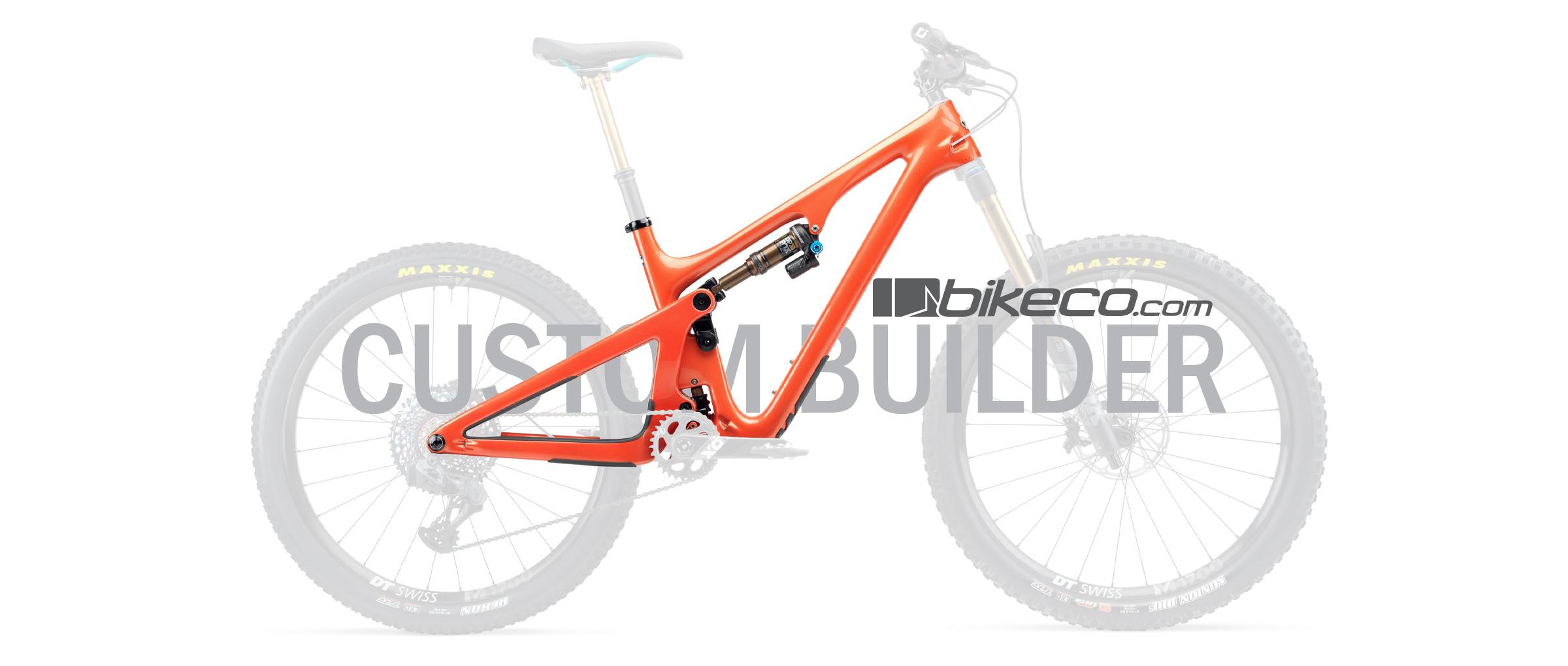 Yeti SB140 Custom Builder. Orange frame with translucent components