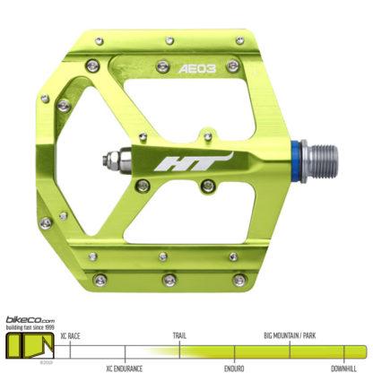 HT AE03 Evo Pedals Green
