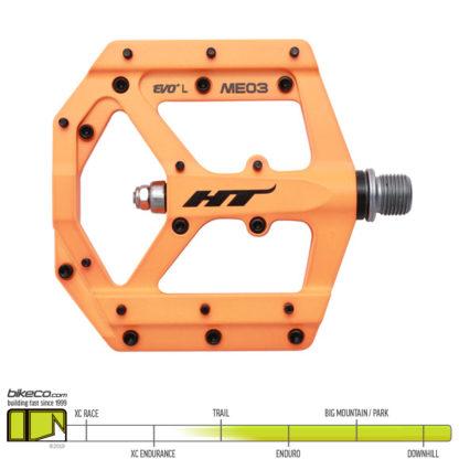 HT ME03 Evo Pedals Neon Orange
