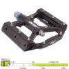 HT Pedals ME05 Evo Platform Pedals Black