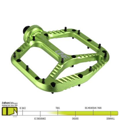 OneUp Aluminum Pedals Green