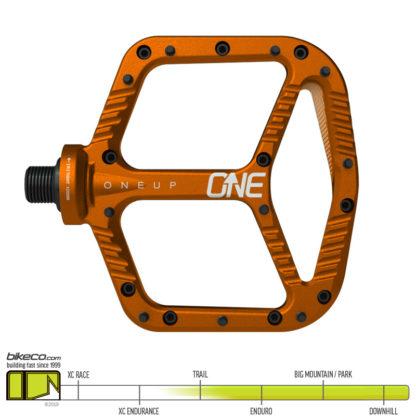 OneUp Aluminum Pedals Orange