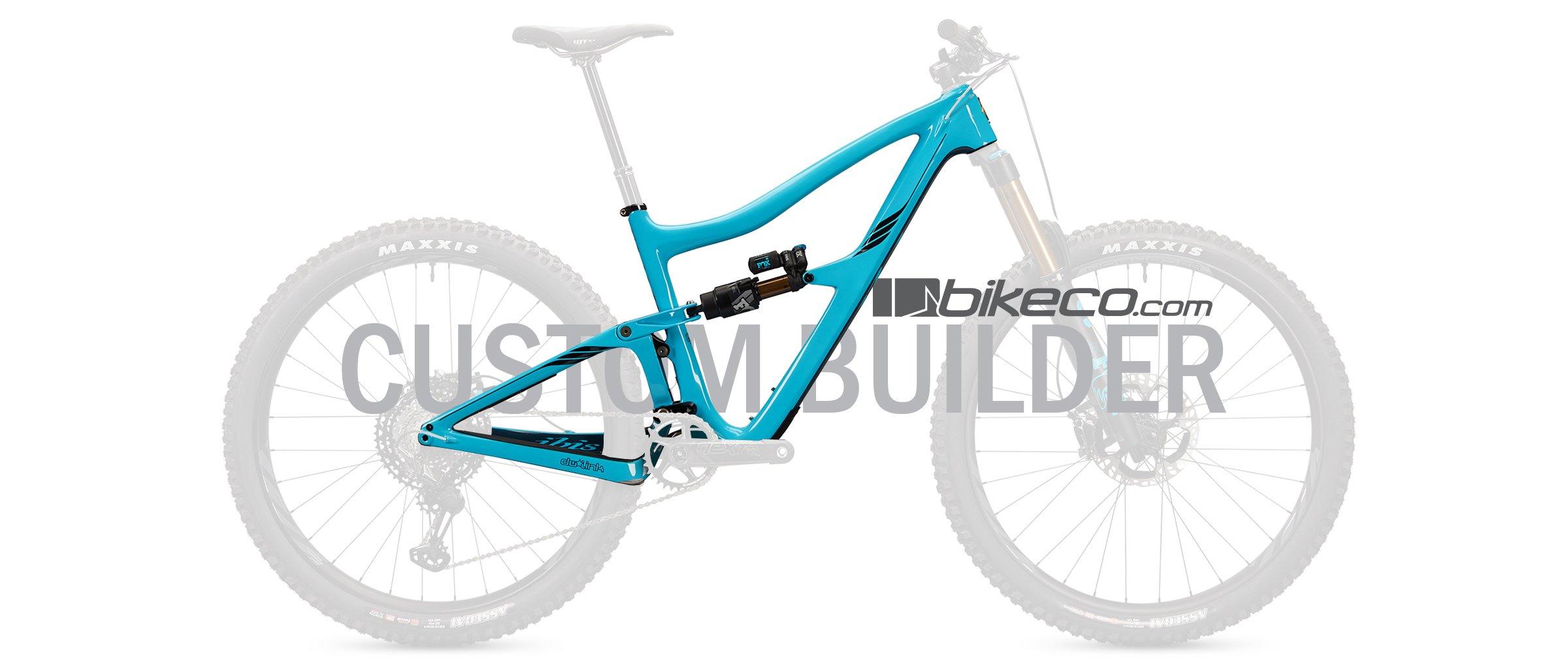 Ibis Ripmo V2 Custom Complete Builder Image. Blue Ripmo with transparent components