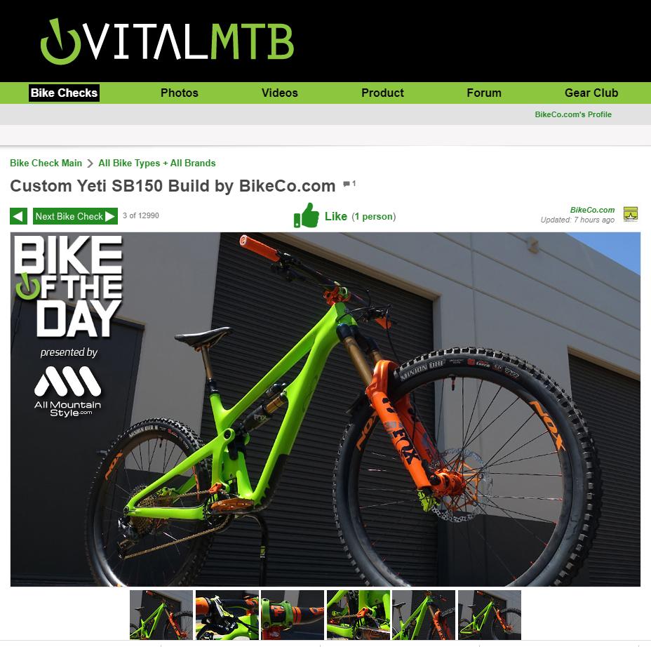 Vital Bike of the Day: BikeCo Custom Yeti SB150 build.