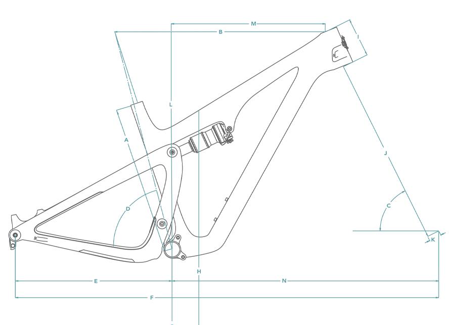 Yeti SB115 Frame Geometry Chart