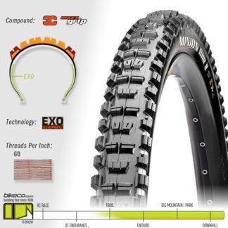 Minion DHR II 3C EXO MaxxGrip Tire