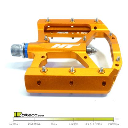 HT AE05 EVO+ Orange Flat Pedals