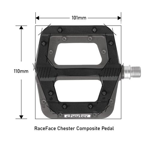 RaceFace Chester Pedals Composite Platform Dimensions