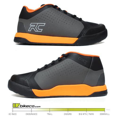 Ride Concepts Powerline Charcoal & Orange Shoes