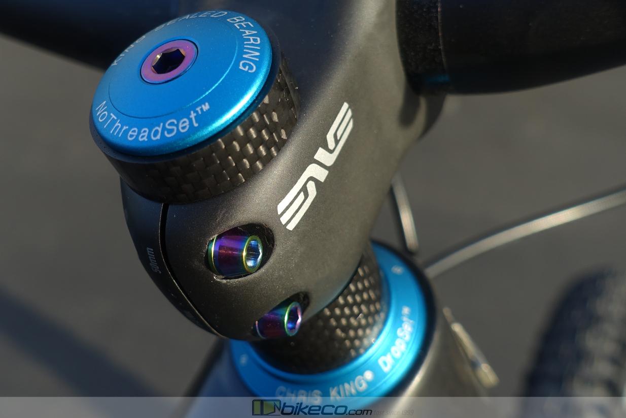 ENVE M7 stem with titanium oil slick hardware