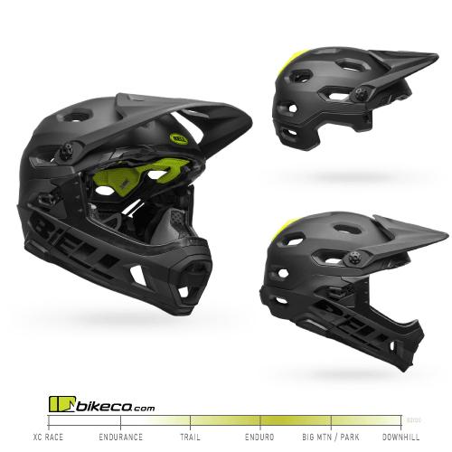 Bell Super DH Spherical Helmet Matte / Gloss Black