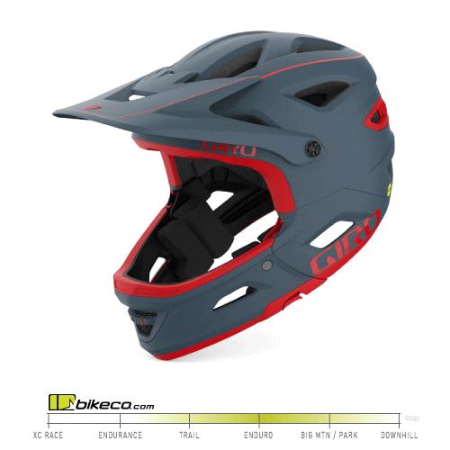 Giro Switchblade Matte Portaro Grey/Red Helmet