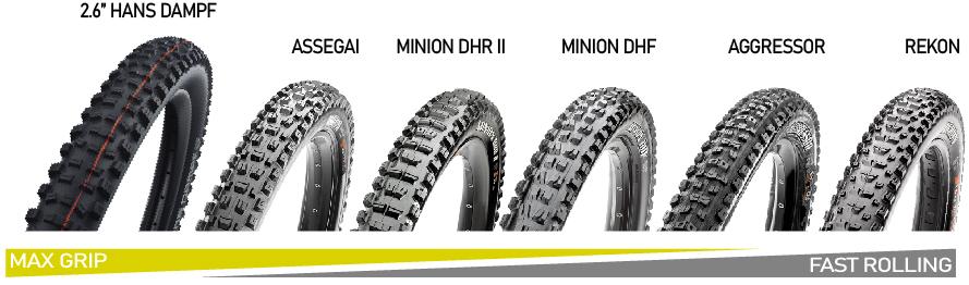 Ibis Mojo 4 Hans Dampf Tire Upgrade Options