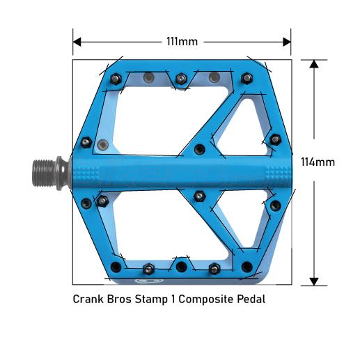 Crank Bros Stamp 1 Pedals Platform Dimensions