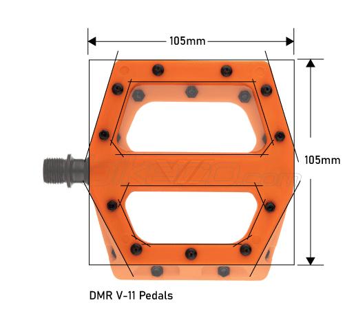 DMR V-11 Pedal Dimensions