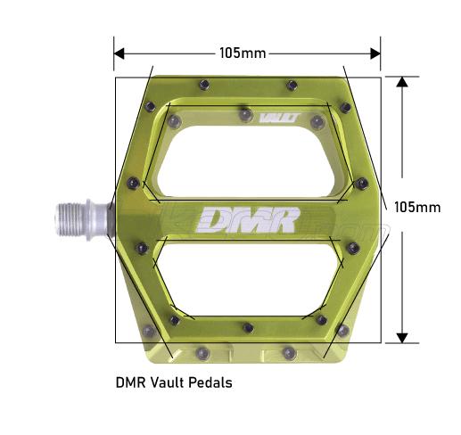 DMR Vault Pedals Dimensions