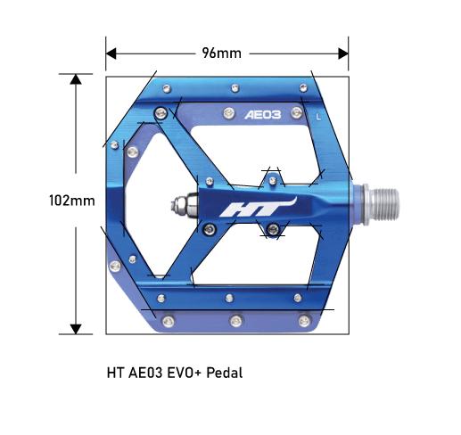 HT AE03 EVO+ Pedal Platform Dimensions