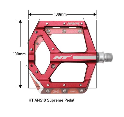 HT ANS10 Supreme Pedal Dimensions