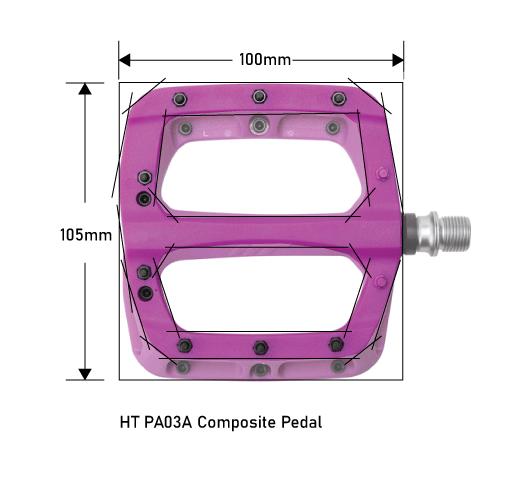 HT PA03A Pedals Platform Dimension