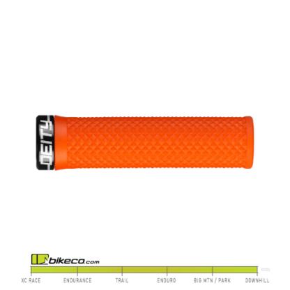 Deity Lockjaw Grips in Orange