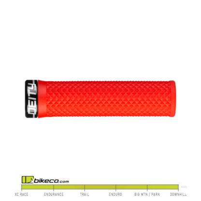 Deity Lockjaw Grips in Red