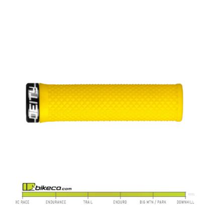 Deity Lockjaw Grips in Yellow