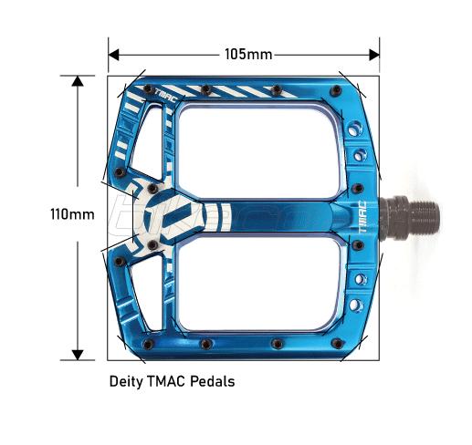 Deity TMAC Pedal Dimensions