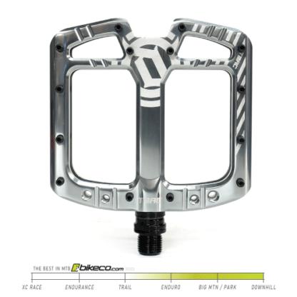 Deity TMAC Pedals in Platinum Silver