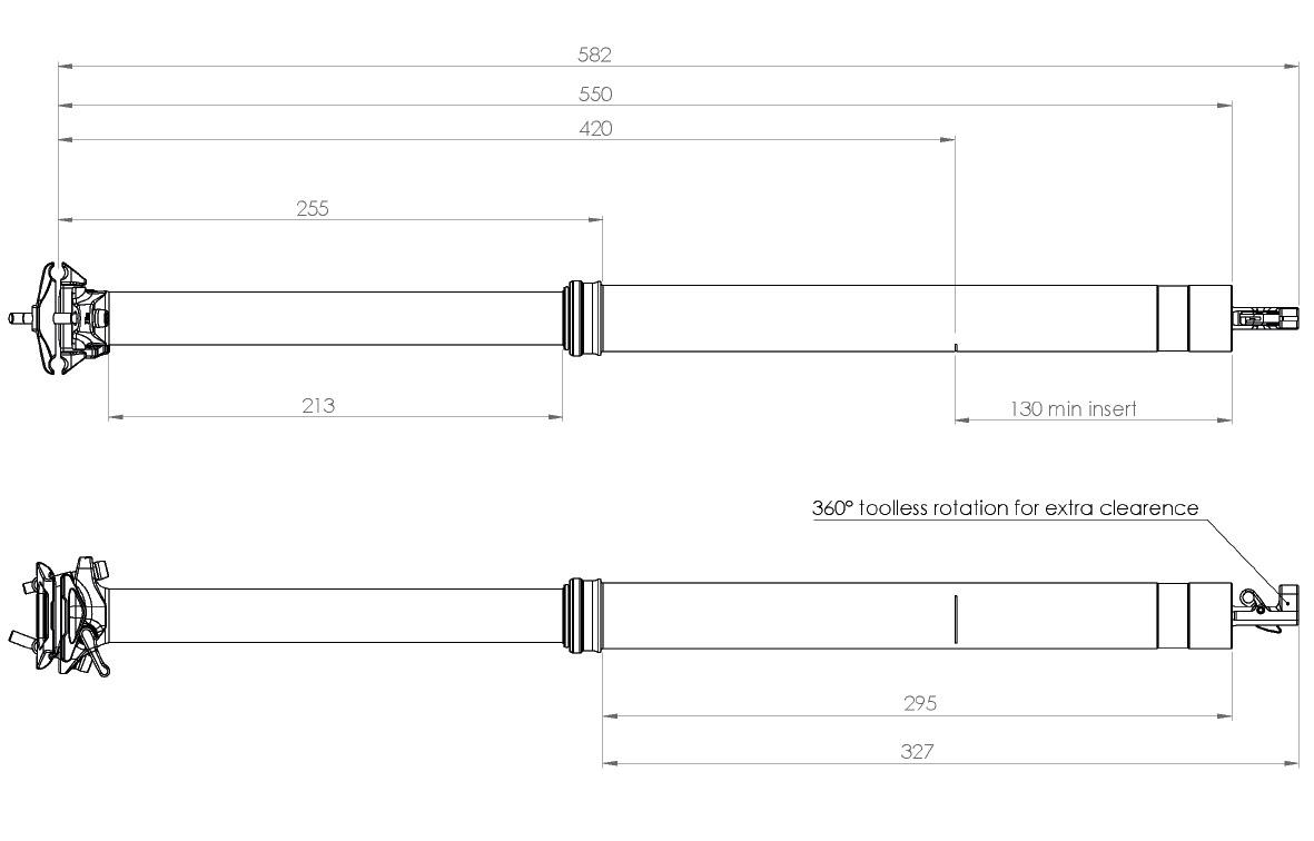Bike Yoke Revive 2.0 213mm Dimensions