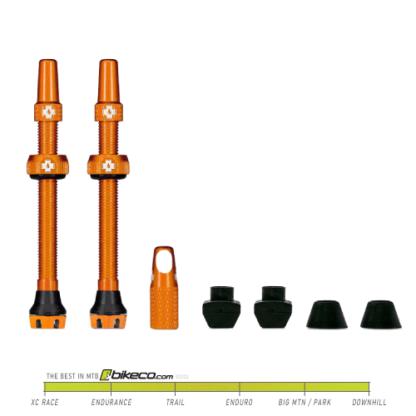 Muc-Off V2 Tubeless Vavle Stems Orange