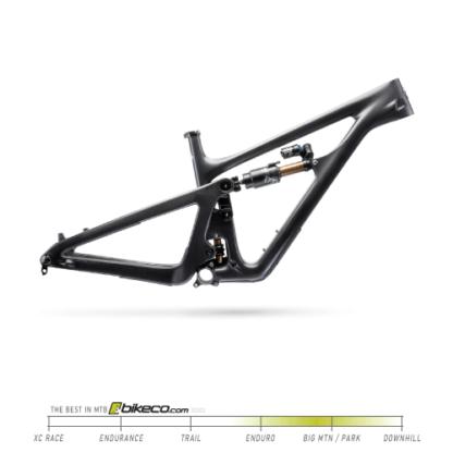 Yeti SB165 Frame with X2 in Raw Carbon
