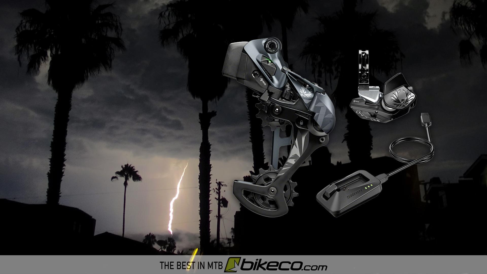 SRAM AXS Kit image over Lightning Image