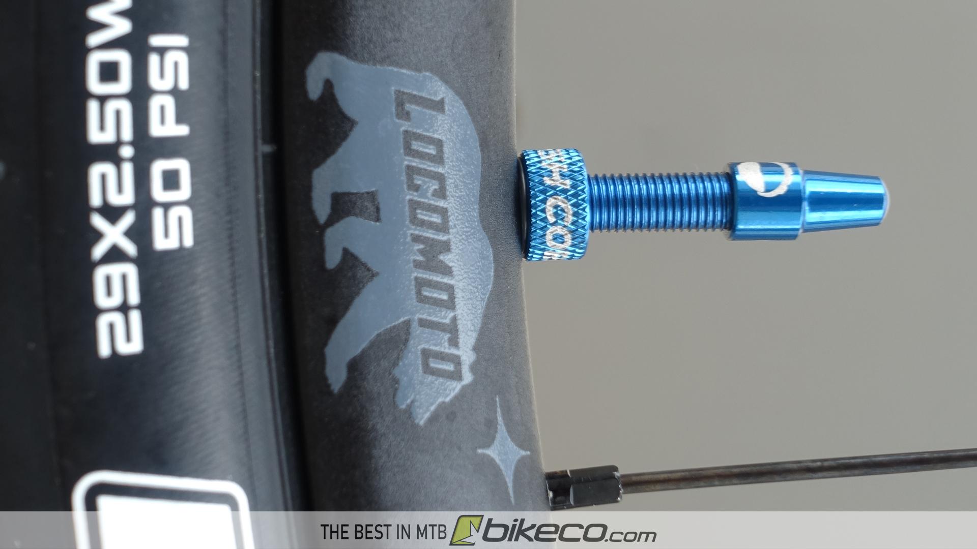 RideFast LocoMoto rim with CushCore Valve Stem